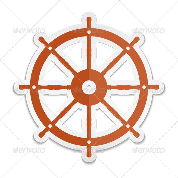 GraphicRiver Ship Wheel Icon 6062946
