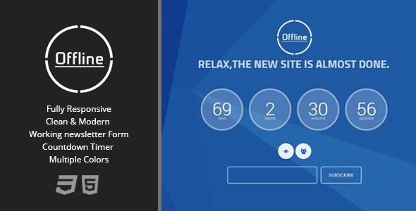 ThemeForest Offline Animated Under Construction Page 6062588