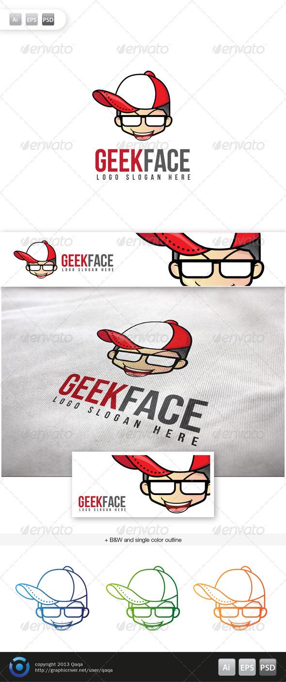 GraphicRiver Geek Face Logo 16 6063391