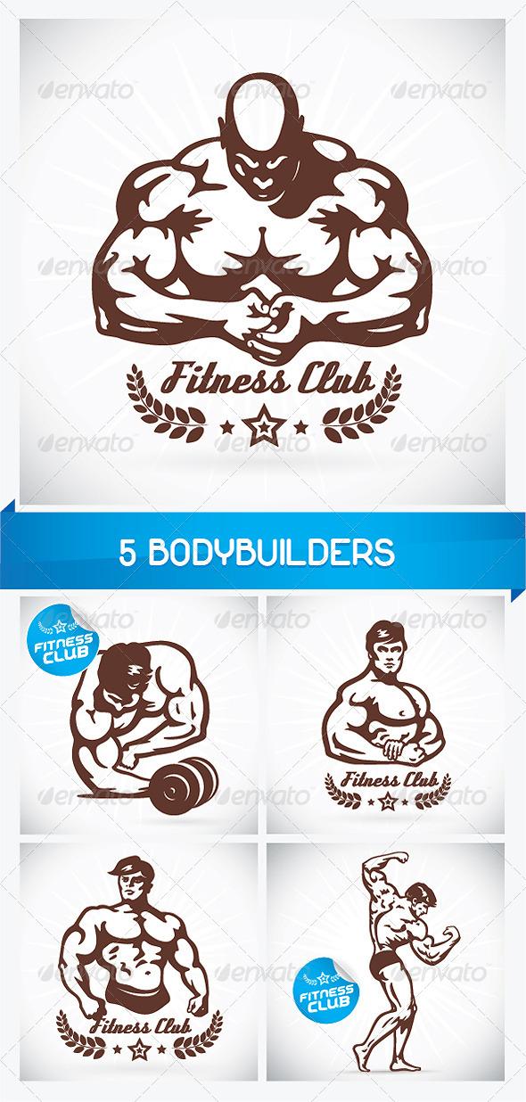 GraphicRiver 5 Bodybuilders 6063420