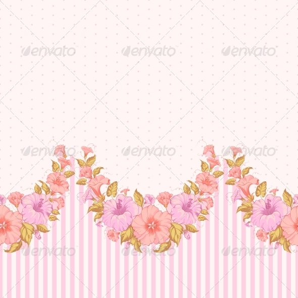 GraphicRiver Color Flower Seamless Pattern 6063696