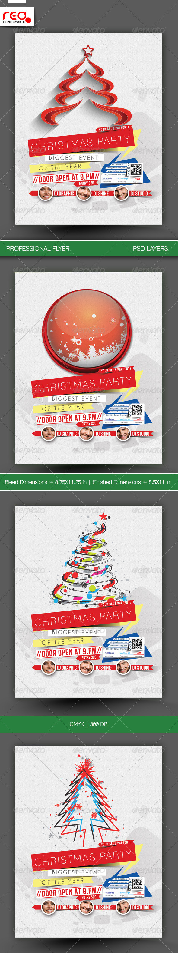 GraphicRiver Christmas Party Flyer & Poster Template 3 6063849