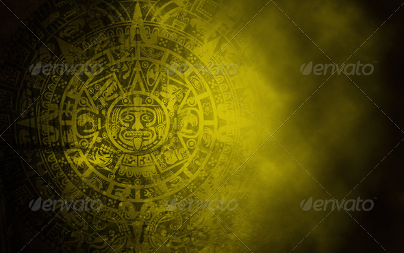 GraphicRiver Mayan Calendar on Old Stone Texture 6063996