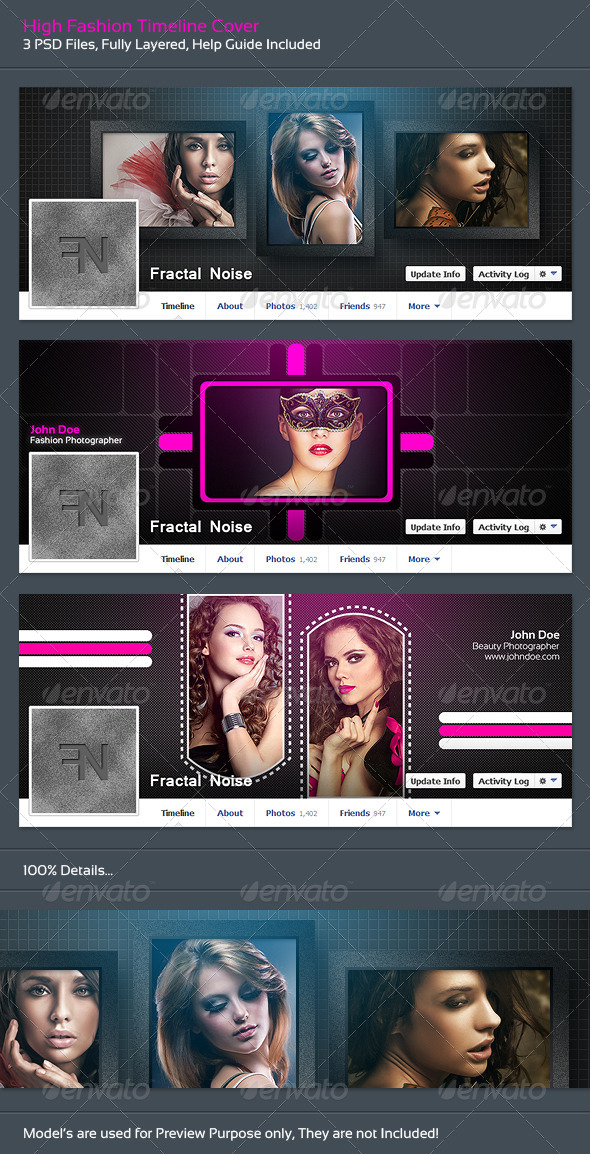 GraphicRiver High Fashion Timeline Covers 6064001