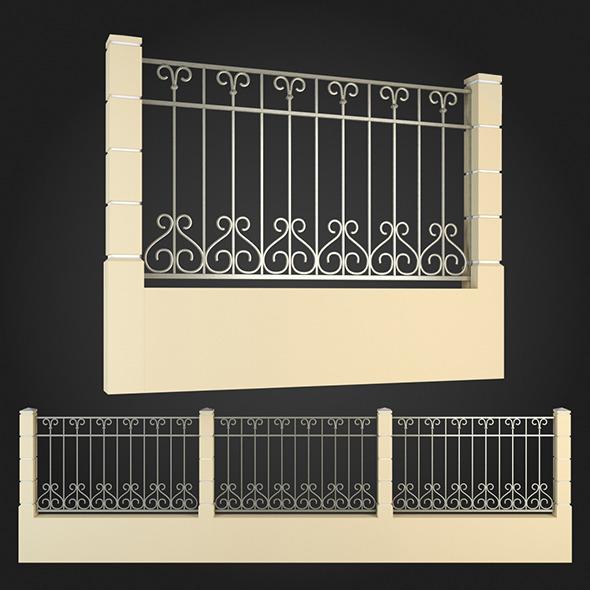 Fence 003 - 3DOcean Item for Sale