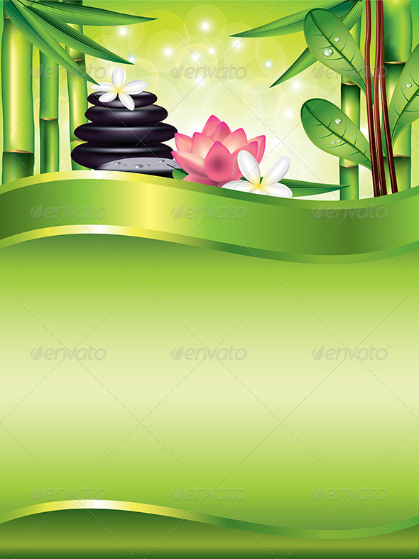 GraphicRiver Spa Treatment Vertical Vector Background 6064060