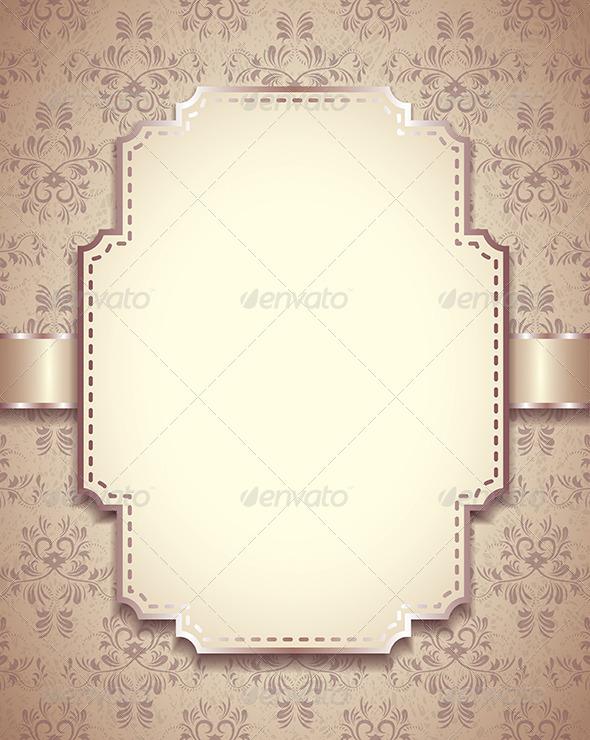 GraphicRiver Vintage Vector Frame Ornamental Background 6064068