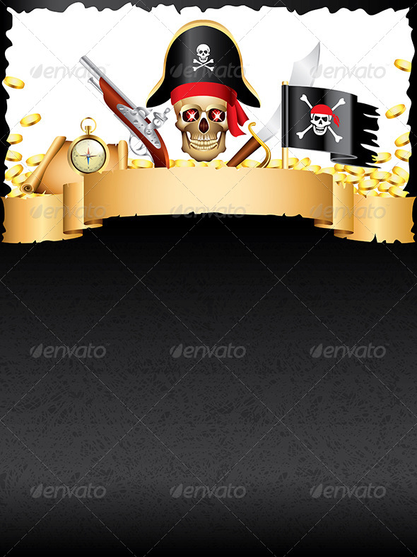 GraphicRiver Pirates and Treasures Vector Background 6064074