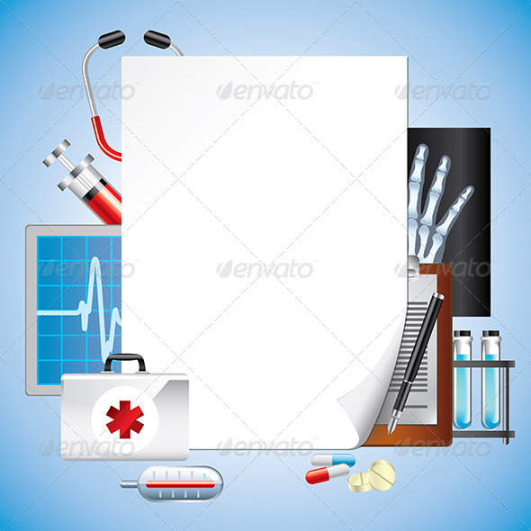 GraphicRiver Medical Equipment with Blank Paper Vector 6064082