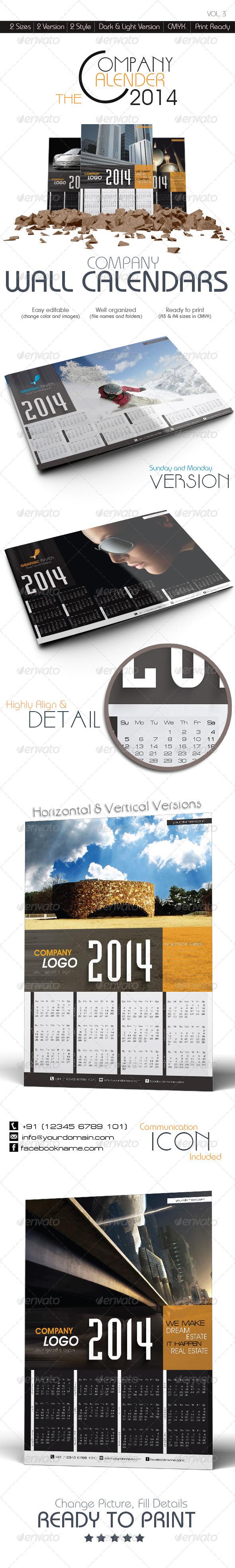 GraphicRiver The Company Wall Calendars 6013687