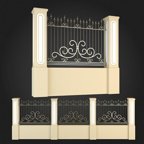 Fence 010 - 3DOcean Item for Sale