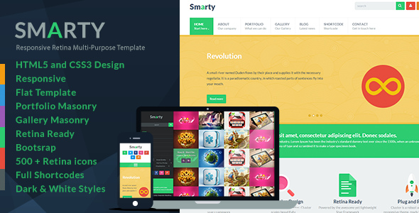 ThemeForest Smarty Responsive HTML5 Template 6055474