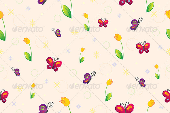 GraphicRiver Spring Seamless Wallpaper 6064128
