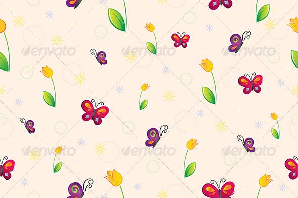 GraphicRiver Spring Seamless Wallpaper 6064128