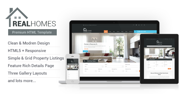 ThemeForest Real Homes HTML Template 6057358