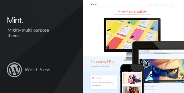 ThemeForest Mint Mighty Multi-Purpose Wordpress Theme 5984300
