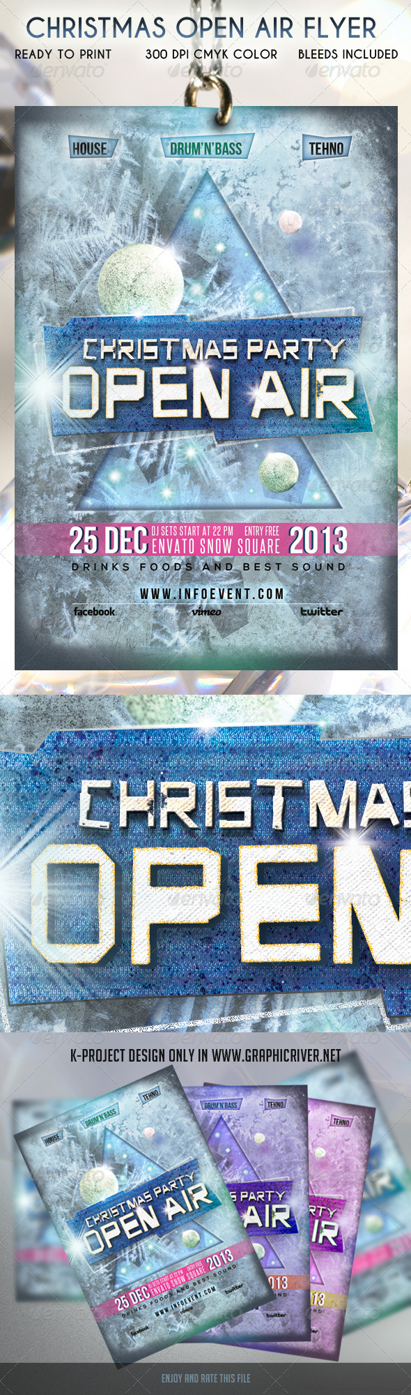 GraphicRiver Christmas Open Air Flyer 6059926