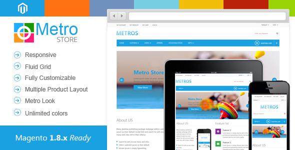 Metro Store : Responsive Premium Magento Theme - Magento eCommerce