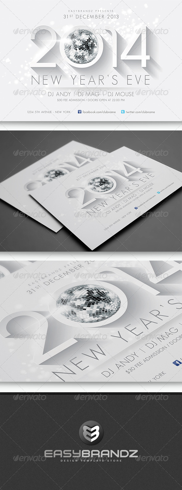 GraphicRiver 2014 New Year s Flyer Template 6064912