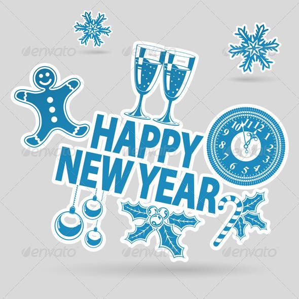 GraphicRiver New Year Sticker 6064963