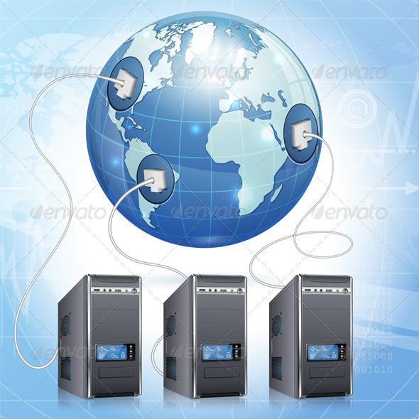 GraphicRiver Global Computing Concept 6064987