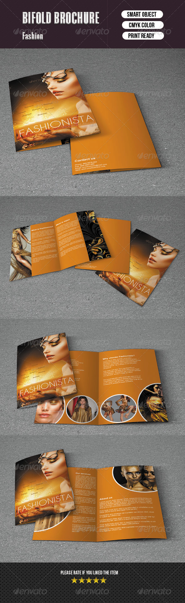 Bifold Brochure For Fashion - Brochures Print Templates