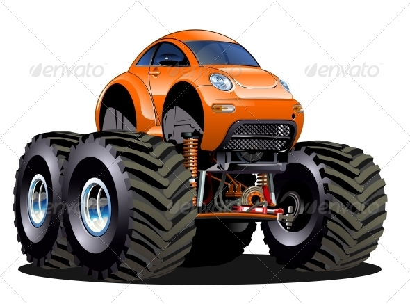 GraphicRiver Cartoon Monster Truck 6065759