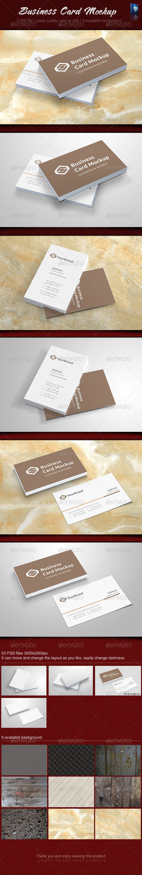 GraphicRiver Business card Mockup 6058393