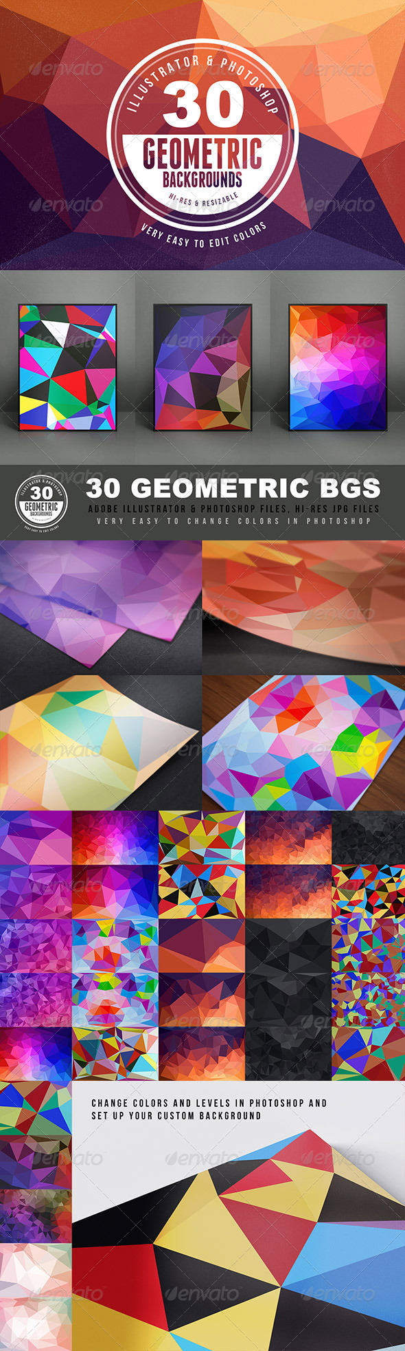 GraphicRiver Geometric Backgrounds or Textures 6057985