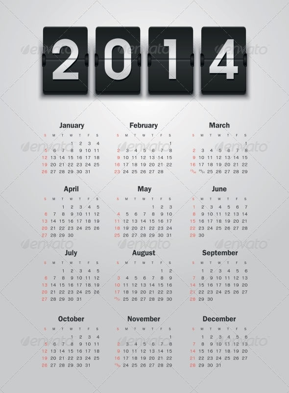 GraphicRiver Calendar 2014 6065867