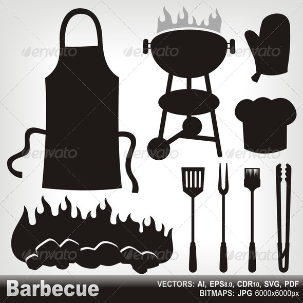 GraphicRiver Barbecue Silhouettes 6065875