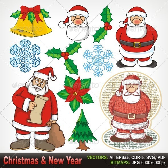 GraphicRiver Christmas and New Year 6065887