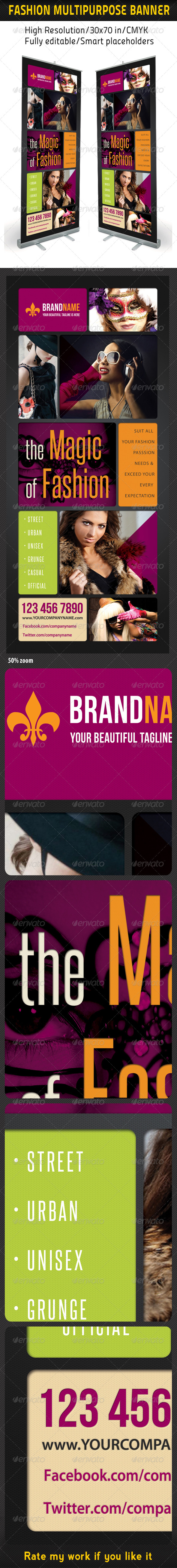 Fashion Multipurpose Banner Template 13 - Signage Print Templates