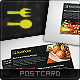 Food Love Postcard - GraphicRiver Item for Sale