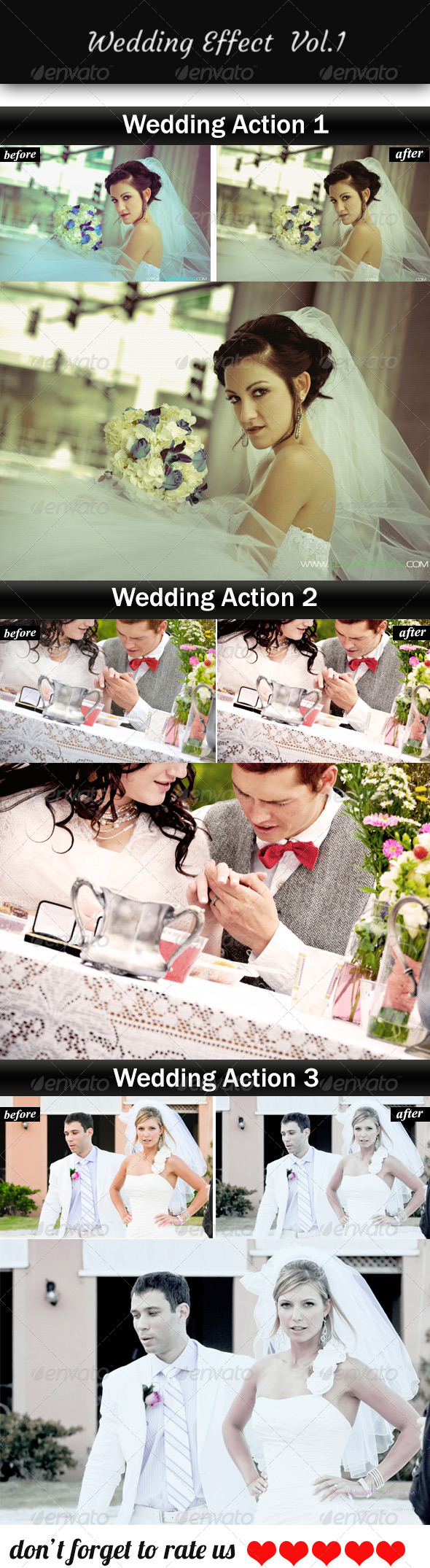 GraphicRiver Wedding Effect Vol.1 6066004