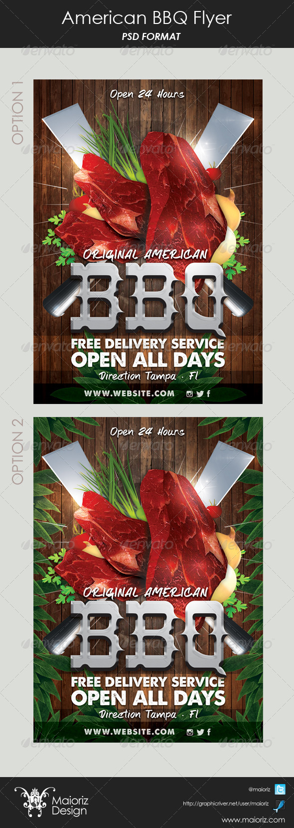GraphicRiver American Steak House Flyer 6064877