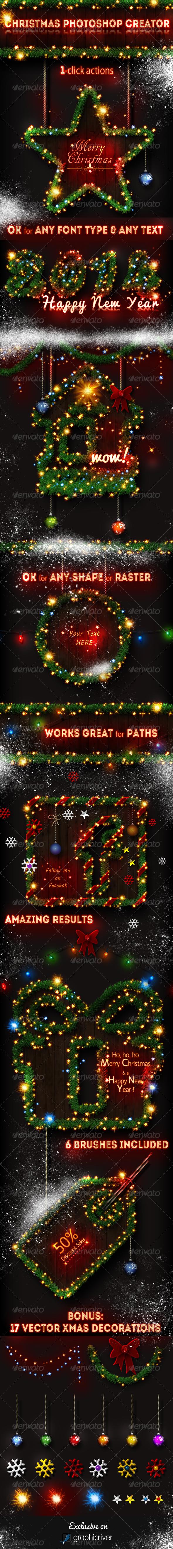 GraphicRiver Christmas Tree Photoshop Creator 6066044