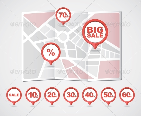 GraphicRiver Mapping Pins Icons Sale 6066056