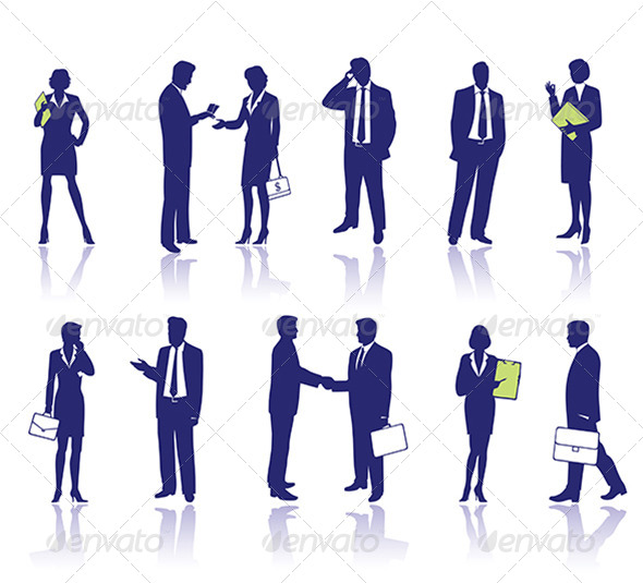 GraphicRiver Business People Silhouettes 6066280