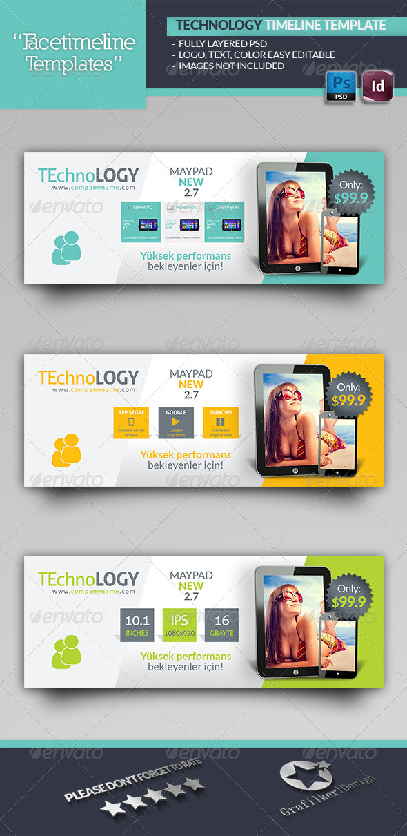 GraphicRiver Technology Timeline Template 6056950
