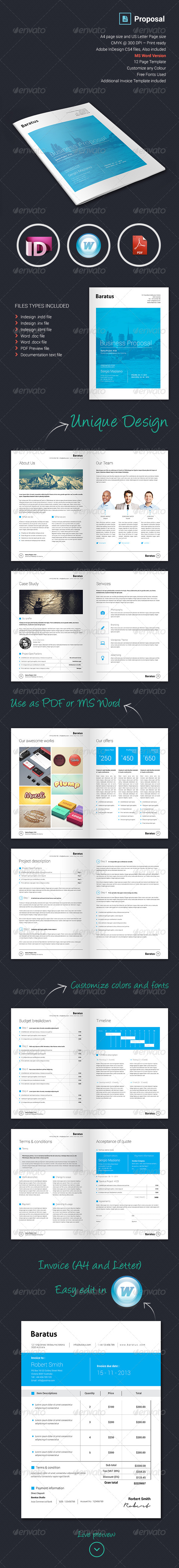 GraphicRiver Baratus Proposal & Invoice Template 6066320