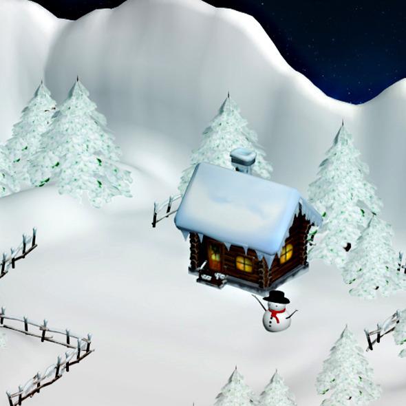 Winter Scene - 3DOcean Item for Sale