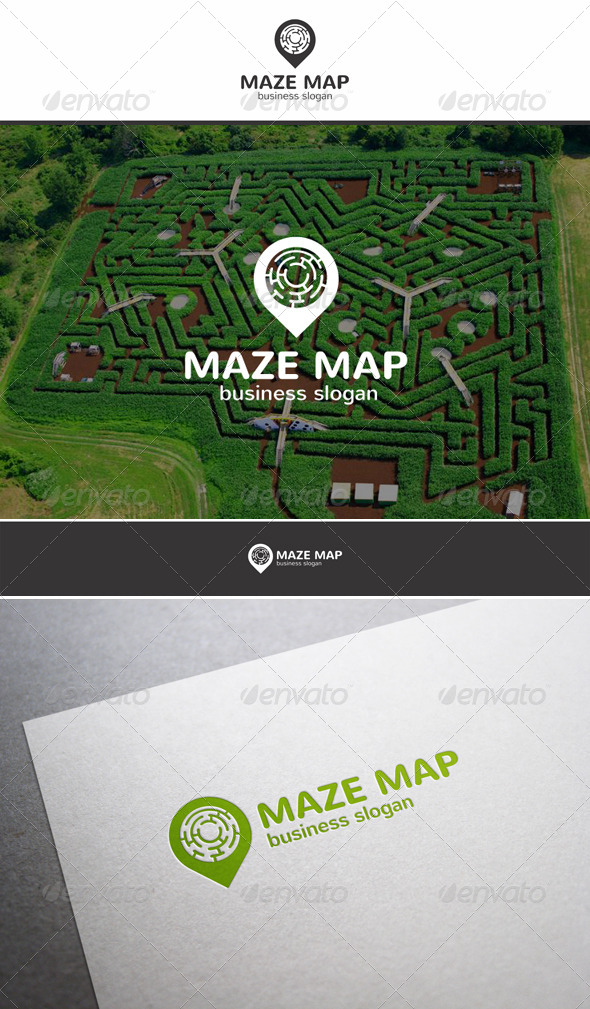 GraphicRiver Maze Map Locator Logo 6066400