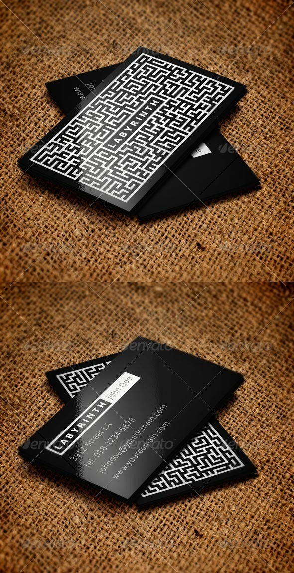 GraphicRiver Labyrinth Business Card 6066446