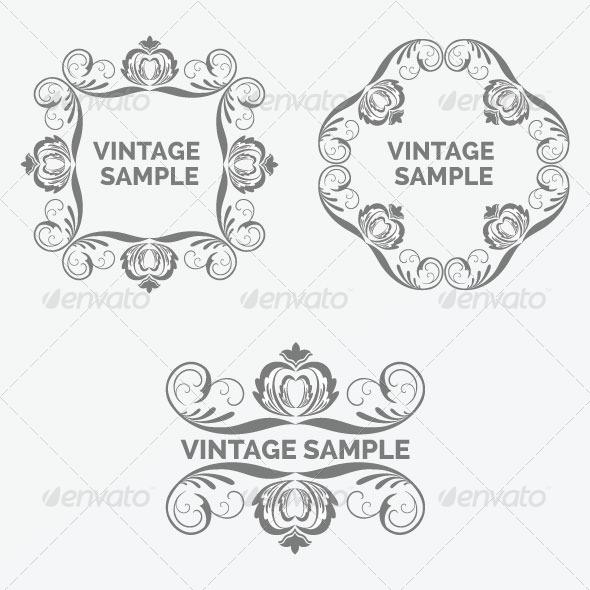 GraphicRiver Vintage Frame 75 6066620