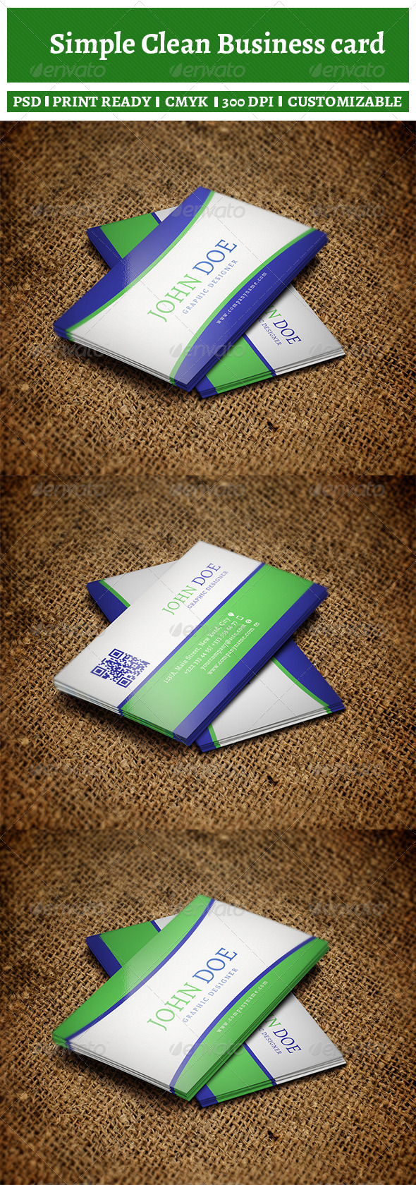 GraphicRiver Simple Clean Business Card 6066631