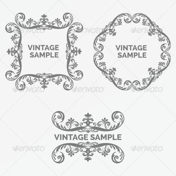 GraphicRiver Vintage Frame 77 6066647