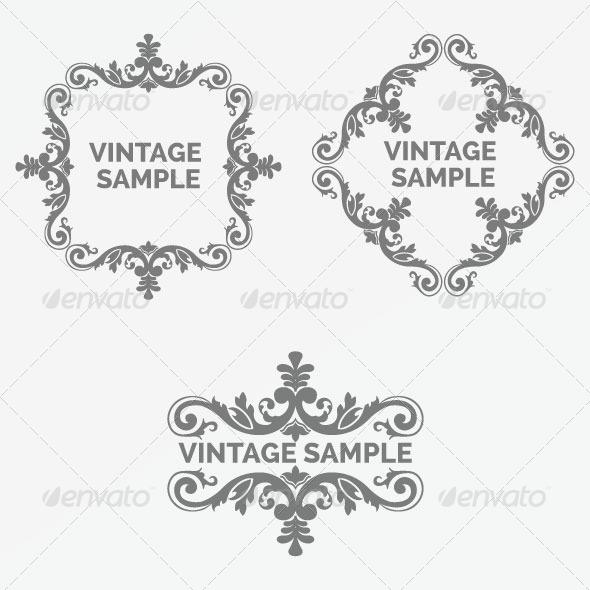 GraphicRiver Vintage Frame 79 6066664