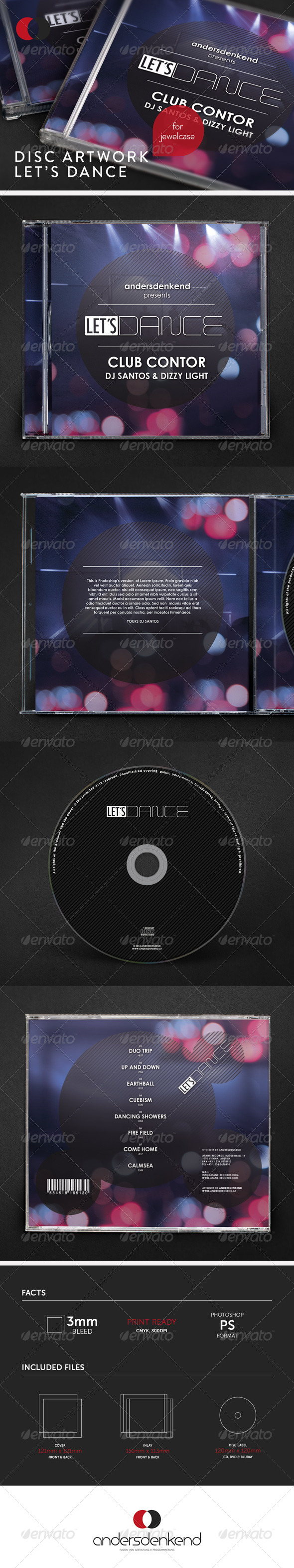 GraphicRiver Disc Artwork Let's Dance 6066672