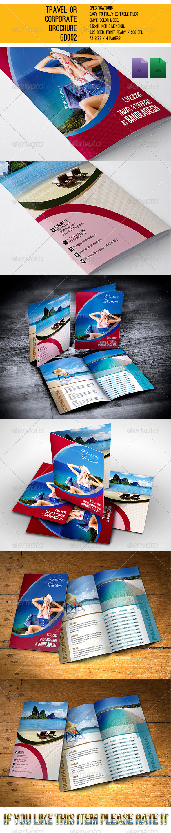 GraphicRiver Travel or Corporate Brochures GD003 6066748